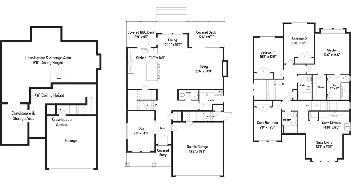 The Sophie Floorplans